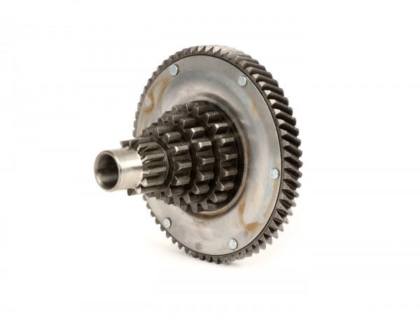 Gear cluster -VESPA- Vespa PX200, Rally200 - 12-13-17-21 teeth with primary drive 65 teeth