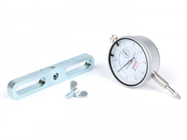 Messuhr -BGM ORIGINAL- Universal 0,01-10mm- mit Halter für Zylinderstehbolzen