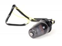 Indicator -MOTO NOSTRA handlebar end indicator LED (E-mark), 6 volt- Vespa V50, 50SR, 50 Sprinter, 90SS, 90 Racer, PV125, ET3, Sprint150, Rally180/200 - black