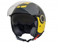 Helmet -VESPA  open face helmet VJ- Racing Sixties- green yellow-  L (59-60cm)