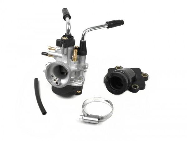 Carburettor kit -BGM Pro 17,5mm PHBN- Minarelli 50 cc 2-stroke (horizontal, manual choke) -