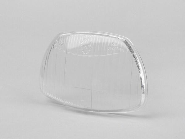 Headlight lens -SIEM trapezoid- Vespa Sprint150 (VLB1T), GL150 (VLA1T), GT125 (VNL2T), SS180 (VSC1T) - glass