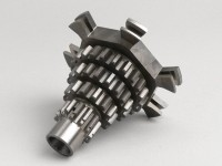Gear cluster -PIAGGIO- Vespa PX125 (VNX1T, 146314-), PX150 (264565-), PX200, T5 125cc, Cosa, Rally180 (VSD1T), Rally200 (VSE1T) - 12-13-17-21 teeth