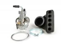 Vergaser -POLINI- CP 24mm AW=Ø28,5mm - inkl. Polini Airbox - Vespa Smallframe PV125, ET3