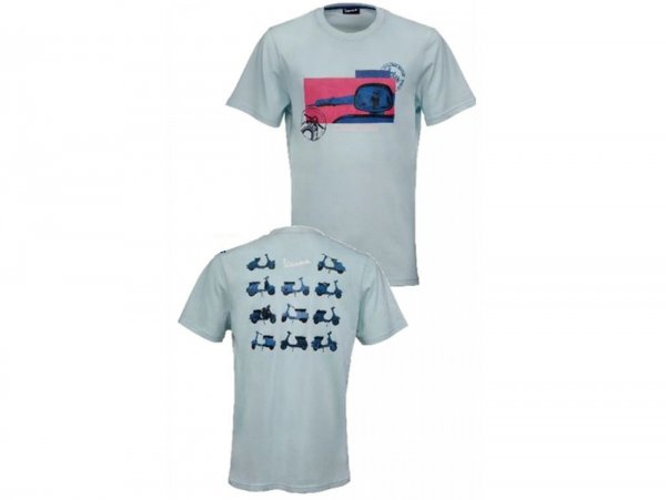 "T-Shirt -VESPA ""Heritage Collection""- hellblau - S"