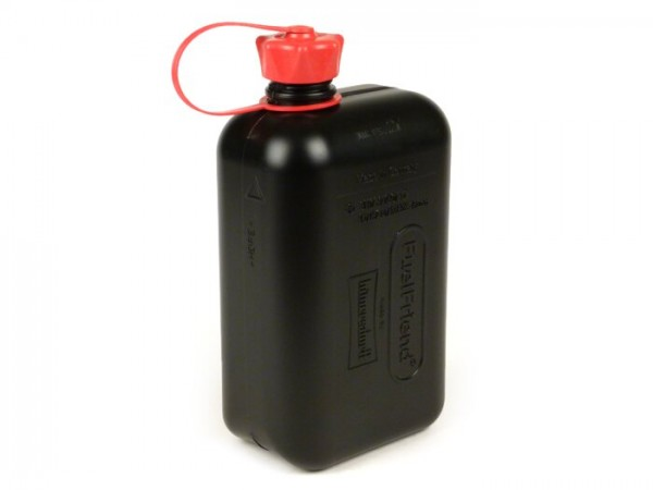 Bidón de gasolina 2L (2000ml) -HÜNERSDORFF Fuel Friend BIG- negro