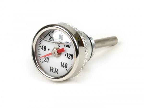 Sensor indicador de temperatura aceite -RR- Piaggio LEADER / QUASAR 125-300cc de 4 tiempos - Vespa ET4, LX, LXV, S, GT, GTS, GTV, GTL - esfera blanca