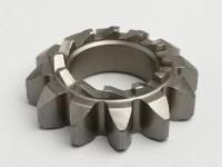 Piñón arranque -CALIDAD OEM- Vespa P 125X (-146313), P 150X/E (-264564), Sprint150 (VLB1T), GT125 (VNL2T), GTR125 (VNL2T), GL150 (VLA1T), GS160 / GS4 (VSB1T), SS180 (VSC1T) - 12/12 dientes, Ø=21,8mm