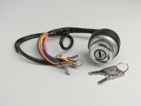 Ignition switch -LAMBRETTA- LI (series 3), LIS, SX, TV (series 2-3), DL, GP - models w/o battery