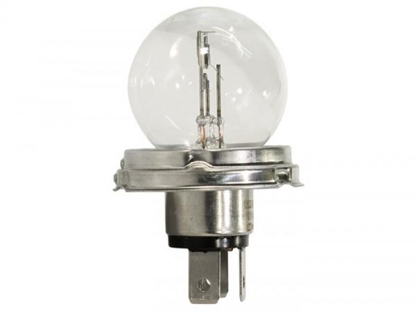 Light bulb -PHILLIPS P45t- 12V 40/45W - white (used in headlight Vespa T5 125cc)