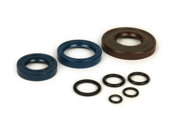 Oil seal set engine -CORTECO FKM- Vespa V50, PV125, ET3, PK50, PK80, PK125 S - incl. O-rings