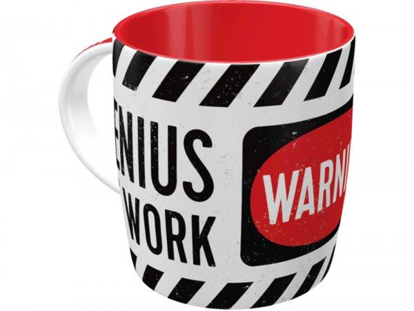 """Mug -Nostalgic Art- """"Genius at Work"""", Ø=85mm x 90mm, 340ml"""