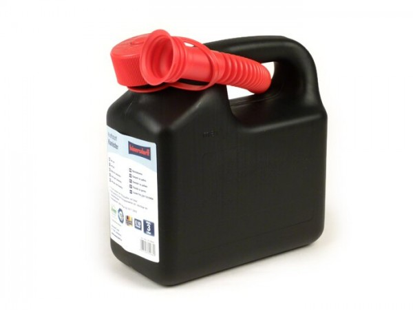 Bidón de gasolina 3l -HÜNERSDORFF- negro