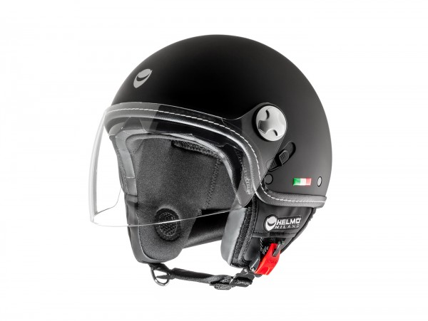 Helm -HELMO MILANO- Demi Jet, Eos, rubber black - XL (59cm)