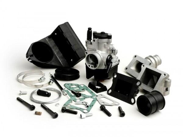 Carburator kit -MALOSSI 2-stud, 25mm Dellorto PHBL, reed valve- Vespa V50, PV, ET3