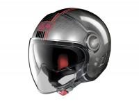 Helmet -NOLAN, N21 Visor Joie de Vivre- open face helmet, scratched chrome - XXS (54cm)