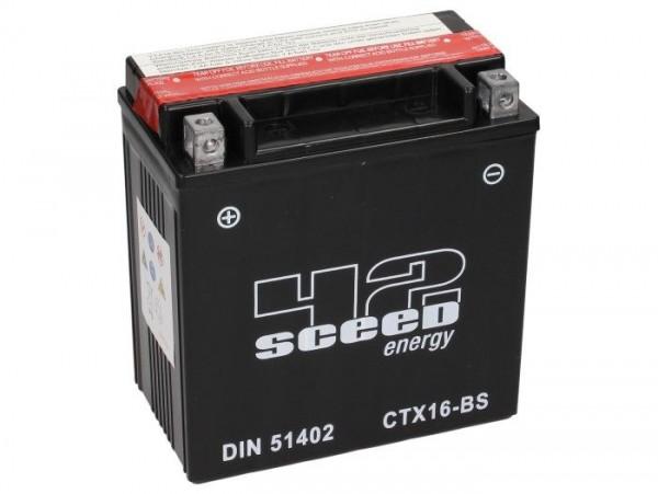 Batterie -Wartungsfrei SCEED 42 Energy- CTX16-BS - 12V, 14Ah - 150x87x161mm (inkl. Säurepack)