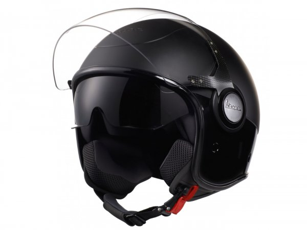 Helmet -VESPA VJ- open face helmet, Nero / Nero Opaco - XL (61-62cm)