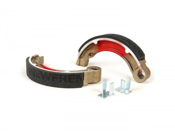 """Brake shoes -BGM PRO Ø=127x20 mm for brake drum BGM5310- Vespa 8"""" rear, 2 anchor pins, Vespa VNB4T-VNB6T (r), VBB2T (r) - also used for conversion from 10"""" to 8"""""""