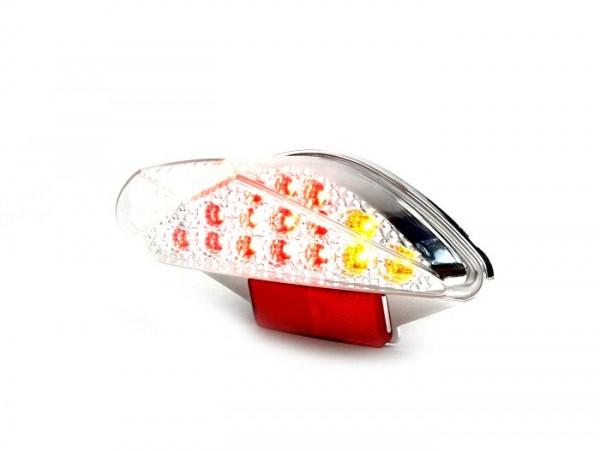 Rücklicht -BGM ORIGINAL Klarglas 15 LED mit Blinkerfunktion- MBK Nitro (YQ50/L, 2-Takt), Yamaha Aerox (YQ50/L, 2-Takt)