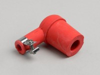 Spark plug connector -RUBBER- red