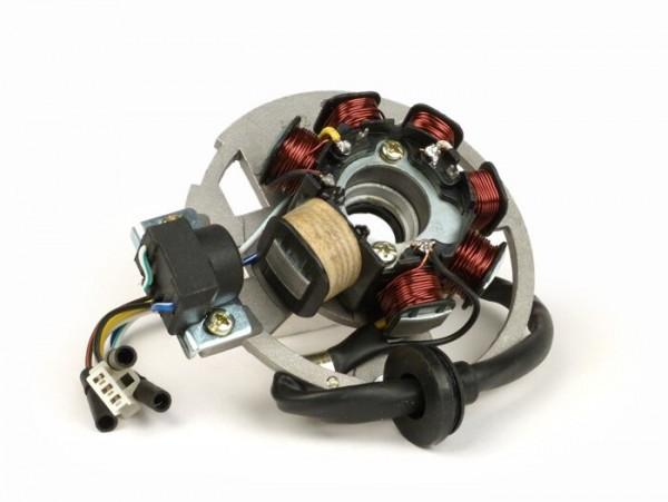 Zündung -OEM QUALITÄT Grundplatte- CPI 50 ccm (Euro 2, 6 Kabel) - Version 3 (3x Einzelstecker, 1x Kombistecker)