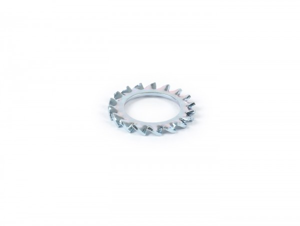 Serrated lock washerfor flywheel nut -OEM QUALITY Øo=24mm- Vespa Sprint150 (VLB1T), VNB, VBB, Super, GL150 (VLA1T), GT125 (VNL2T), GTR125 (VNL2T), V50(N) (92877-), V50 R (-917729), V50 S (15325-81866),V90 (-194926) , SS50, SS90, PV125 (-194969)