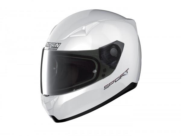 Helm -NOLAN, N60-5 Sport- Integralhelm, weiß metallic - L (59-60cm)
