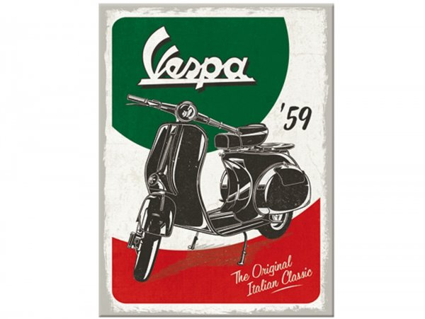 "Magnet  -Nostalgic Art- Vespa, ""The Italian Classic"" - 6x8cm"