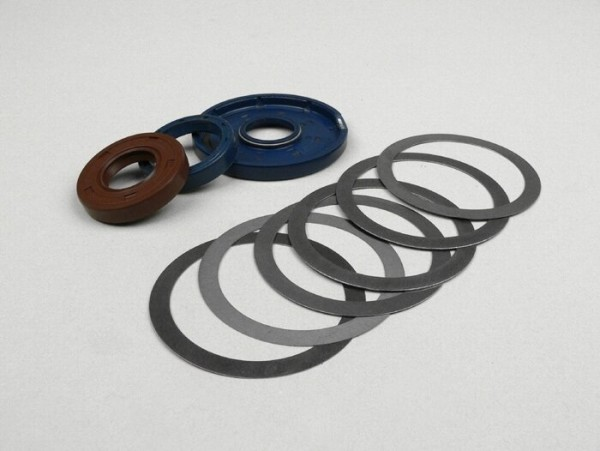 Oil seal set crankshaft -SCOOTER CENTER- Vespa Sprint150 (VLB1T), Sprint Veloce150 (VLB1T -294259), GTR125 (VNL2T -145900), TS125 (VNL3T -18139), GT125, VNA, VNB, VBA, VBB, Super, GL150 (VLA1T)