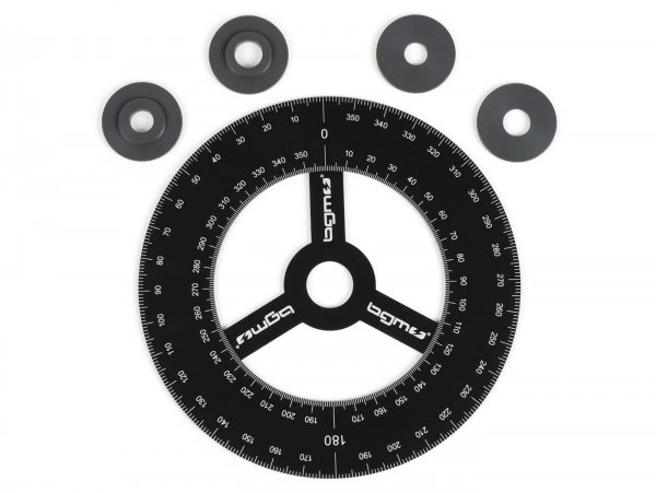 Timing degree disc -BGM Pro- aluminium - black