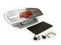 Step -FA ITALIA- lady footrest for Vespa - Vespa Smallframe, Largeframe, Wideframe - red