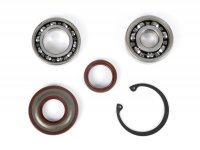 Bearing and oil seal set for crankshaft conversion to ETS -BGM PRO- Vespa V50, PV125, ET3, PK50, PK80, PK125 - 1x 6303 + 1x 6005 C3