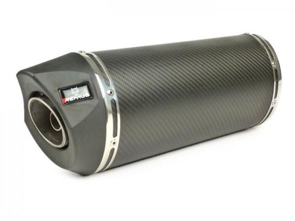 Silencer -REMUS RSC- Ø=55mm - Vespa GTS 125ie Super (2009-), Vespa GTS 250ie (2005-), Vespa GTS 300ie (15.8kW, 2008-), Vespa GTS 300ie Super (2008-), Vespa GTV 250ie (2006-) - carbon