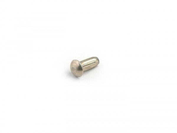 Rivet Ø=4x10mm for steering lock cover type NEIMAN (oval) -OEM QUALITY- Vespa Rally180 (VSD1T), Rally200 (VSE1T), Sprint150 (VLB1T), TS125 (VNL3T), Super, GT125 (VNL2T), GTR125 (VNL2T), GL150 (VLA1T), SS180 (VSC1T), SS50, SS90, V50 SR