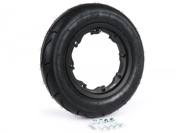 Wheel -BGM Sport, tubeless, Lambretta- 3.50 - 10 inch TL 59S (reinforced) - wheel rim 2.10-10 black