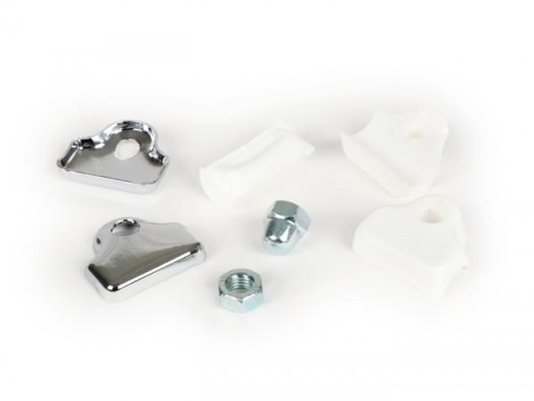 Mountig kit for clip-on mirror -BUMM- white plastic