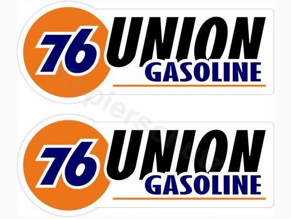 """Aufkleber -2x 95 x38mm- """"76 Union Gasoline"""""""