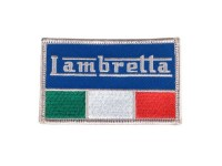 Patch - Lambretta Italian flag- 80x50mm