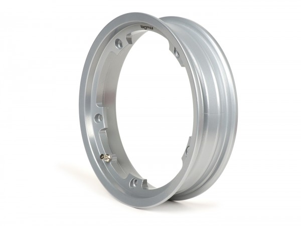 Wheel rim -BGM PRO tubeless 2.10-10 inch, aluminium- Vespa (type PX) - Vespa Smallframe V50, 50N, Special, PV, ET3, PK50-125 (S/XL/XL2), Largeframe PX, T5, Sprint, Rally, GT/GTR, LML Star, Deluxe - silver