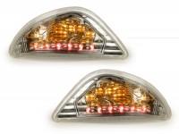 Blinker-Set -POWER 1 LED (E-Prüfzeichen)- Vespa LX, LXV, S - weiß -