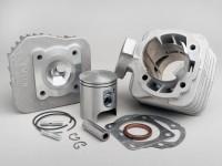 Zylinder -AIRSAL 70 ccm T6 Racing- Peugeot AC (vertikal) - SPEEDFIGHT1 50 cc AC, SPEEDFIGHT2 50 cc AC, TKR50, TREKKER50, VIVACITY50, ELYSEO50, SQUAB50, SV50, ZENITH50, BUXY50, ELYSTAR50, LOOXOR50, SPEEDAKE