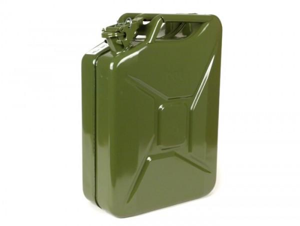 Bidón de gasolina 20l -FA ITALIA, metal- verde oliva
