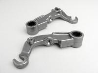 Pair of fork links for disc brake -MB DEVELOPMENTS- Lambretta SX 200, TV (series 3), GP 200, DL 200 - stainless steel