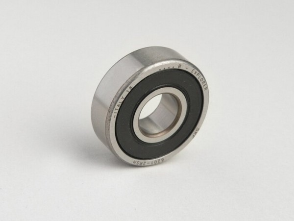 Ball bearing -6201 2RS (both sides sealed)- (12x32x10mm) - (used for front wheel/brake drum all Lambretta models, Vespa PX (-1982))