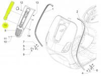 Horn cover insert -PIAGGIO- Vespa S (ZAPC38, ZAPM44, ZAPM68)