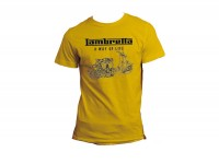 T-shirt -LAMBRETTA - A way of life- men - yellow - L