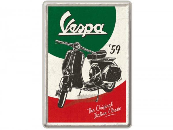 "Tin postcard -Nostalgic Art- Vespa, ""The Italian Classic"", 10x14cm"