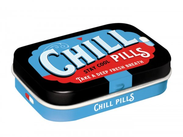 "Pillendose -Nostalgic Art- ""Chill Pills"" - 4x6x2cm"