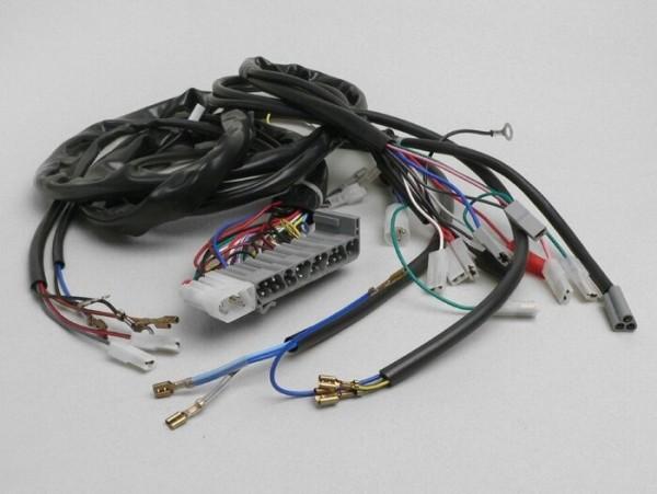 Mazo de cables -PIAGGIO- Vespa PX Iris Elestart (1998-), con batería, soporte bobinas completo de encendido con 5 cables